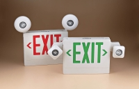 Cens.com EMERGENCY LIGHT COMBO - EXIT SIGN WITH 2 LED HEAD EMERGENCY LIGHT 台灣聯意貿易有限公司