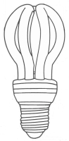 4U Lotus Shape CFL