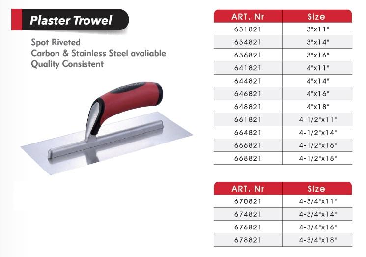 Plaster Trowels / Plastering Trowels/Ultra Flex Trowel/Cement tools/ Masonry Tools