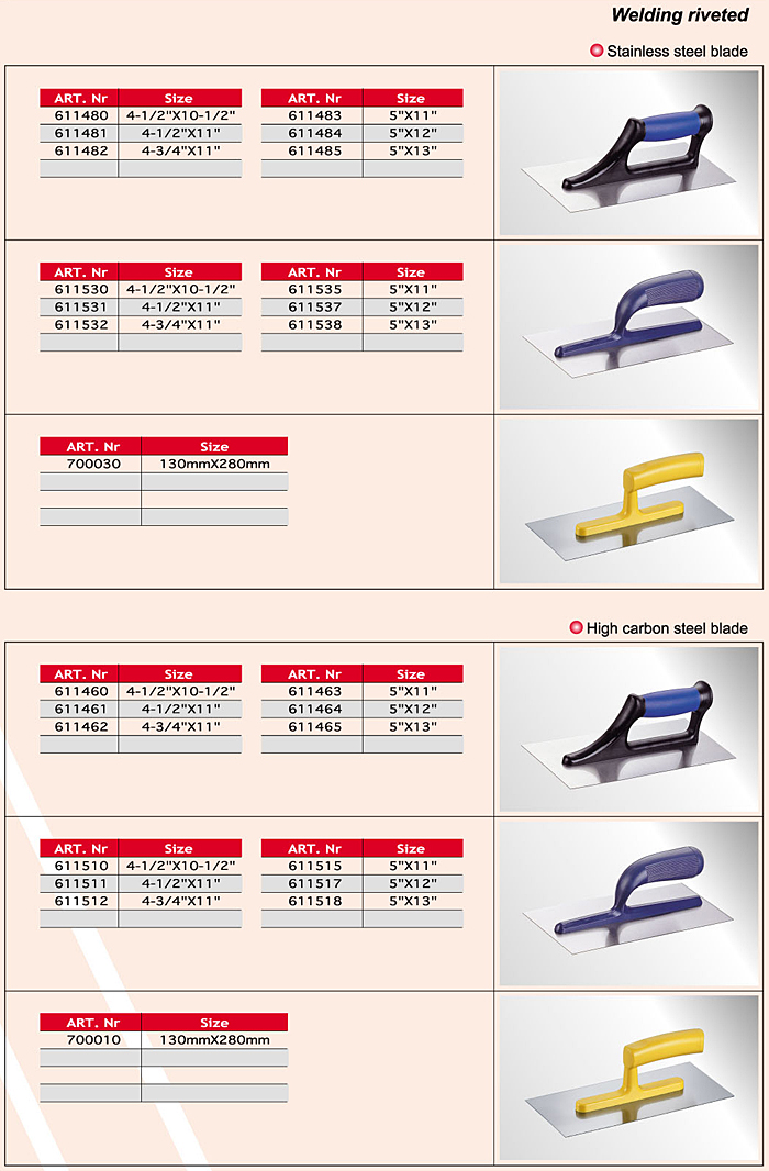 Notch Trowels/ Cement Tools/ Cement Tools