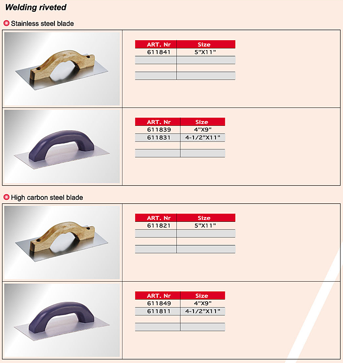 Notch Trowels / Cement Tools/ Cement Tools