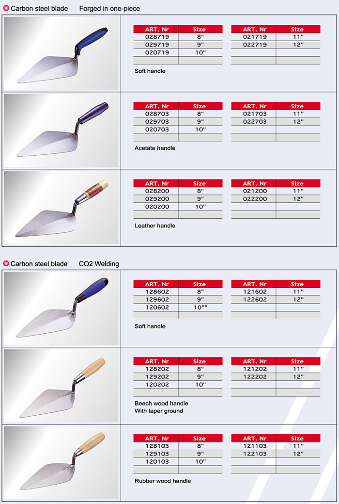 Tuck Pointing Trowels