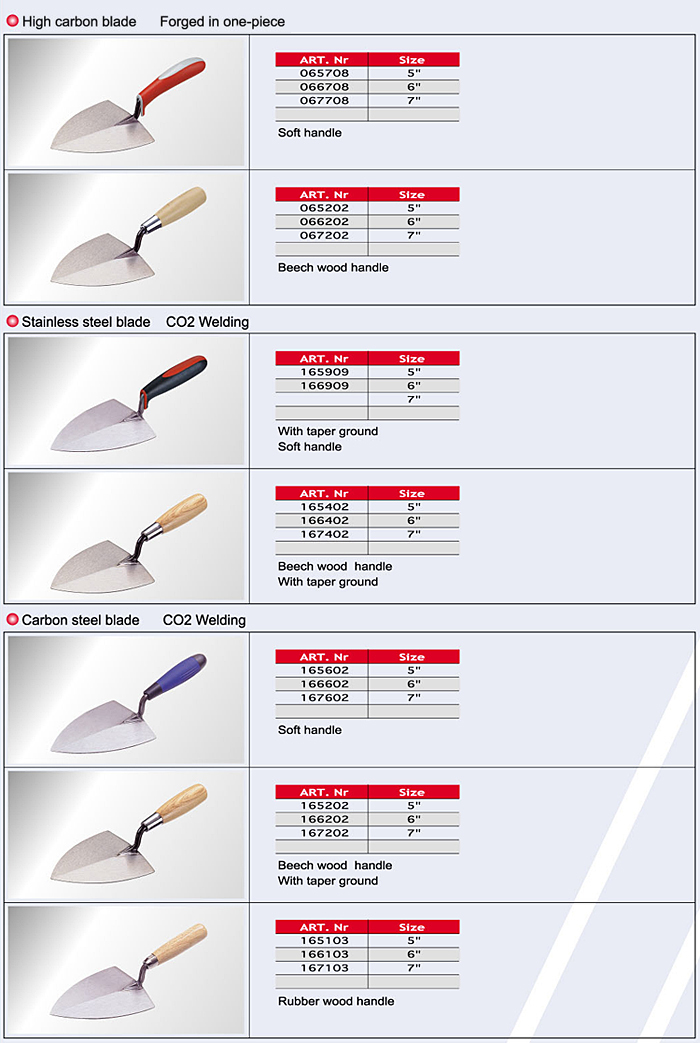 Italian Round Trowels / Cement Tools