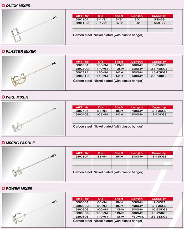 Quick Mixer/Plaster Mixer/Wire Mixer/Mixing Paddle/Power Mixer