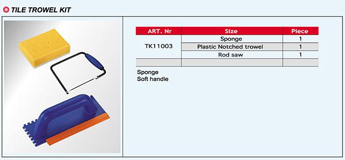 Tile Trowel Kits / Tool Sets / Tool Kits
