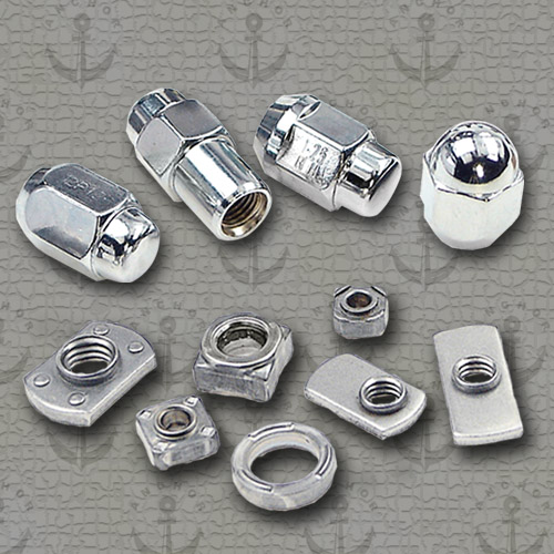 Wheel Nuts (above) and Weld Nuts