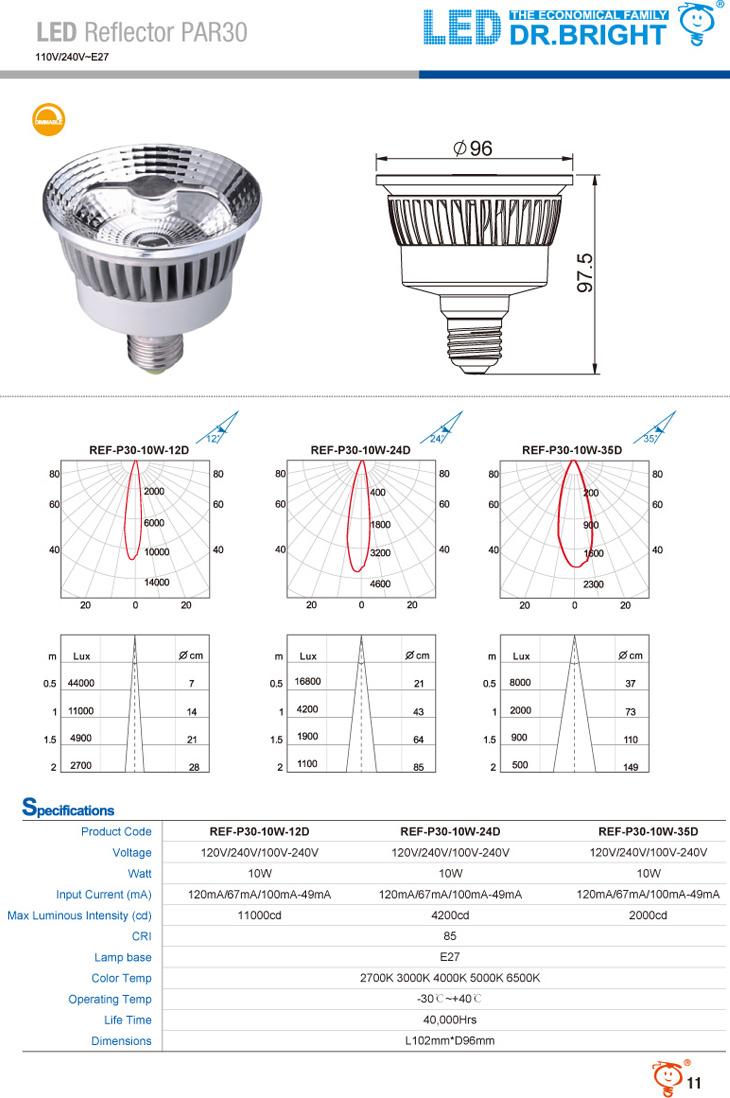 LED Reflector PAR30