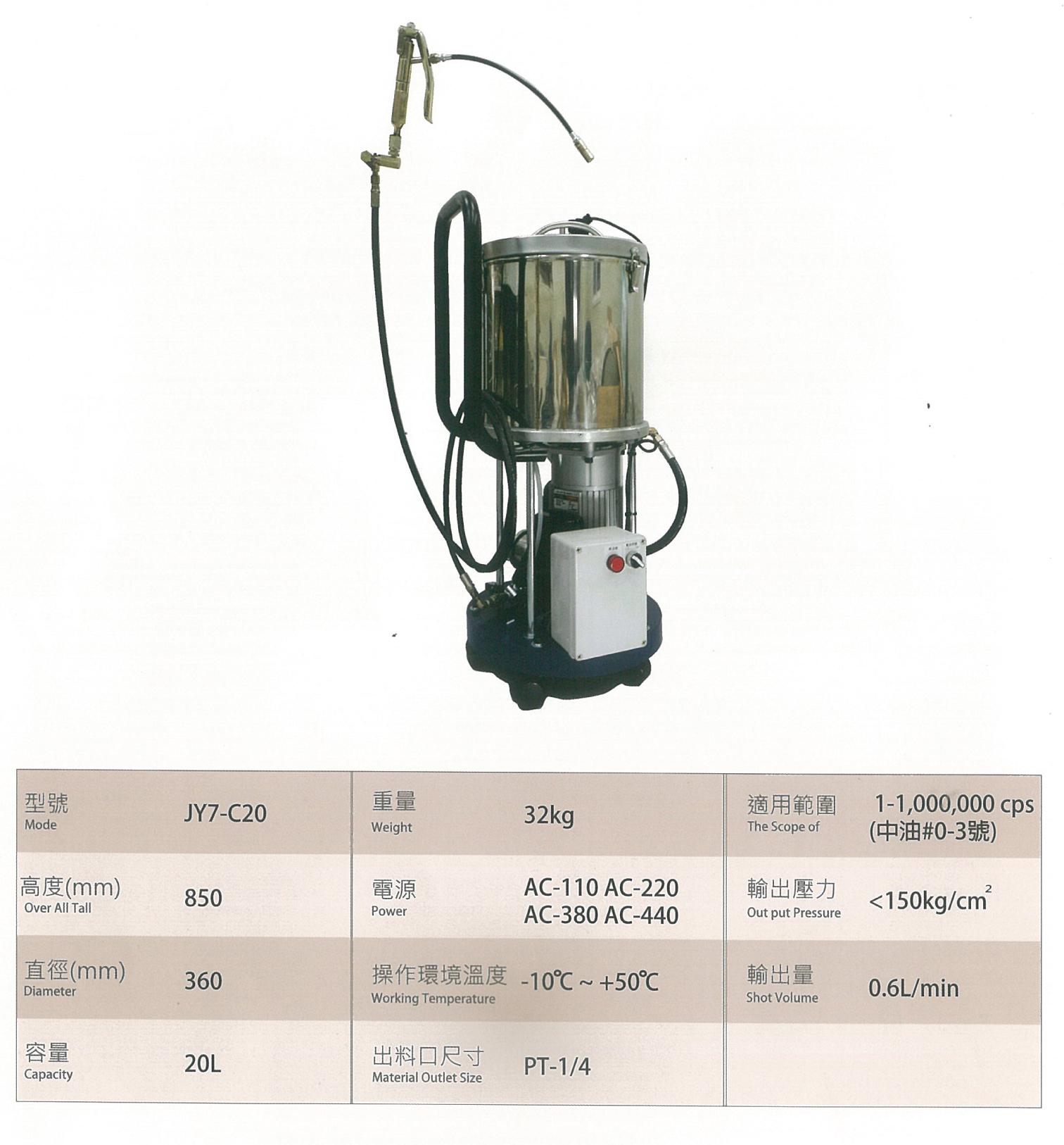 電動灌注油機