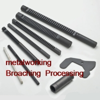 Rack gears broaching