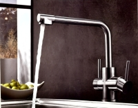 Stainless steel  3WAY DUAL HANDLE SINK MIXER