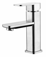 Stainless steel  SINGLE LEVER BASIN MIXER(square)