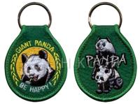 熊貓刺繡鑰匙圈