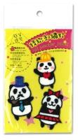 貓熊家族刺繡貼紙
