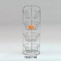4-Tier wire basket rack
