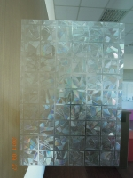 Abstract self-adhesive window film