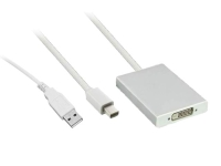 Mini DP and USB to Dual-Link DVI Adapter