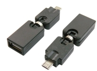 OTG Micro USB BM to USB AF rotatable Adapter