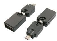 OTG Micro USB BM to USB AF rotatable Adapter