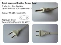 Brasil Approval Rubber Power Cord (TA-138)