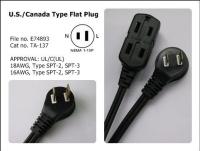 U.S./Canada Type Flat Plug