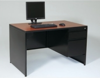 Full End Panel Desk w/ Single Pedestal