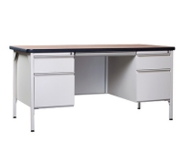 Steel Desk w/ Double Pedestal