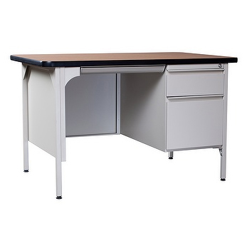 Steel Desk w/ Single Pedestal