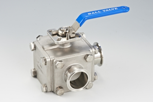 3-Way Clamp End Ball Valve