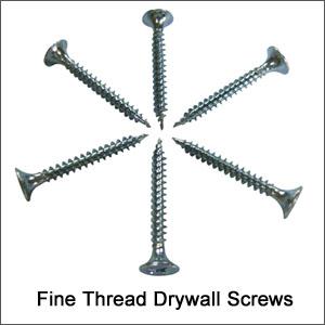 Drywall Screws, Fine Thread
