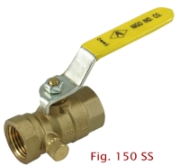 2-PC Brass Drainable Ball Valve