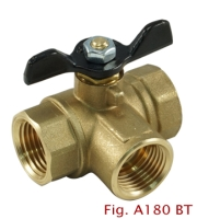 2-PC 3-way Brass Ball Valve