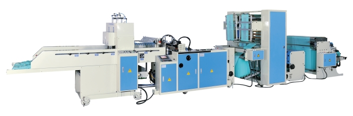 T-Shirt Bag Making Machine with Hot Slitting & Side-Gusset Device
