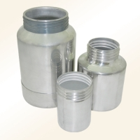 Aluminum spray gun cups
