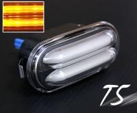 Volkswagen Bora Fox Golf Jetta Lupo Passat Polo T5 LED Side Marker Signal Light Lamp (Black)