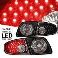 03-06 Mazda3 4D LED Taillights Lamps