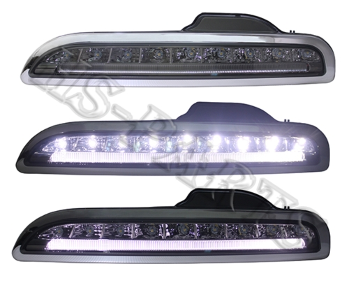 05-08 PORSCHE 987 / BOXTER LED DRL Bumper Driving Lights Lamps (Smoke)