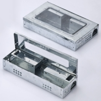 MULTIPLE CATCH MOUSE TRAP/CLEAR LID WITH REMOVABLE RAMPS