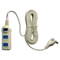 Household power strip (1-switch, 2-socket, 15ft)