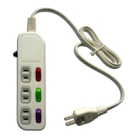 Household power strip (3-switch, 3-socket, 6ft)