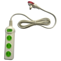 Household power strip (1-switch, 3-socket, 6ft)