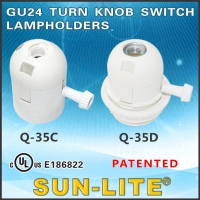 GU24 Turn Knob Switch Lampholders