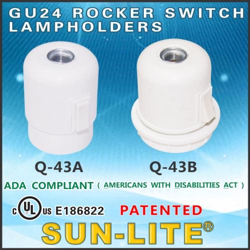 GU24旋扭式開關燈座