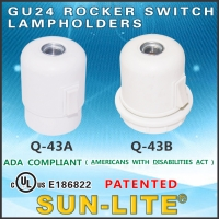 GU24 Rocker Switch Lampholders