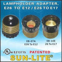 Lampholder Adapter, E26 To E12 / E26 To E17