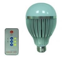LED球泡燈+無線遙控器(IR)。