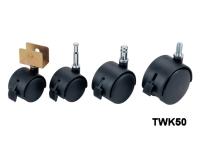 Twin wheel caster