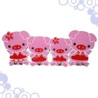 粉红猪门后挂钩