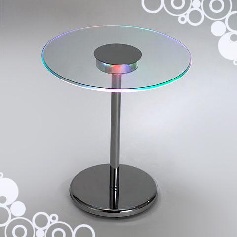 圓形玻璃桌/LED 燈桌