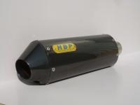 Oval black titanium exhaust (300L) + black titanium flanged end