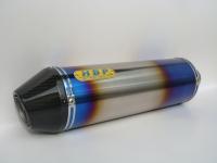 Manually sintered titanium exhaust (330L) + carbon-fiber flanged end